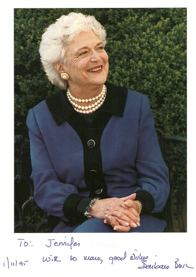 Barbara Bush and how hereditary dyslexia is