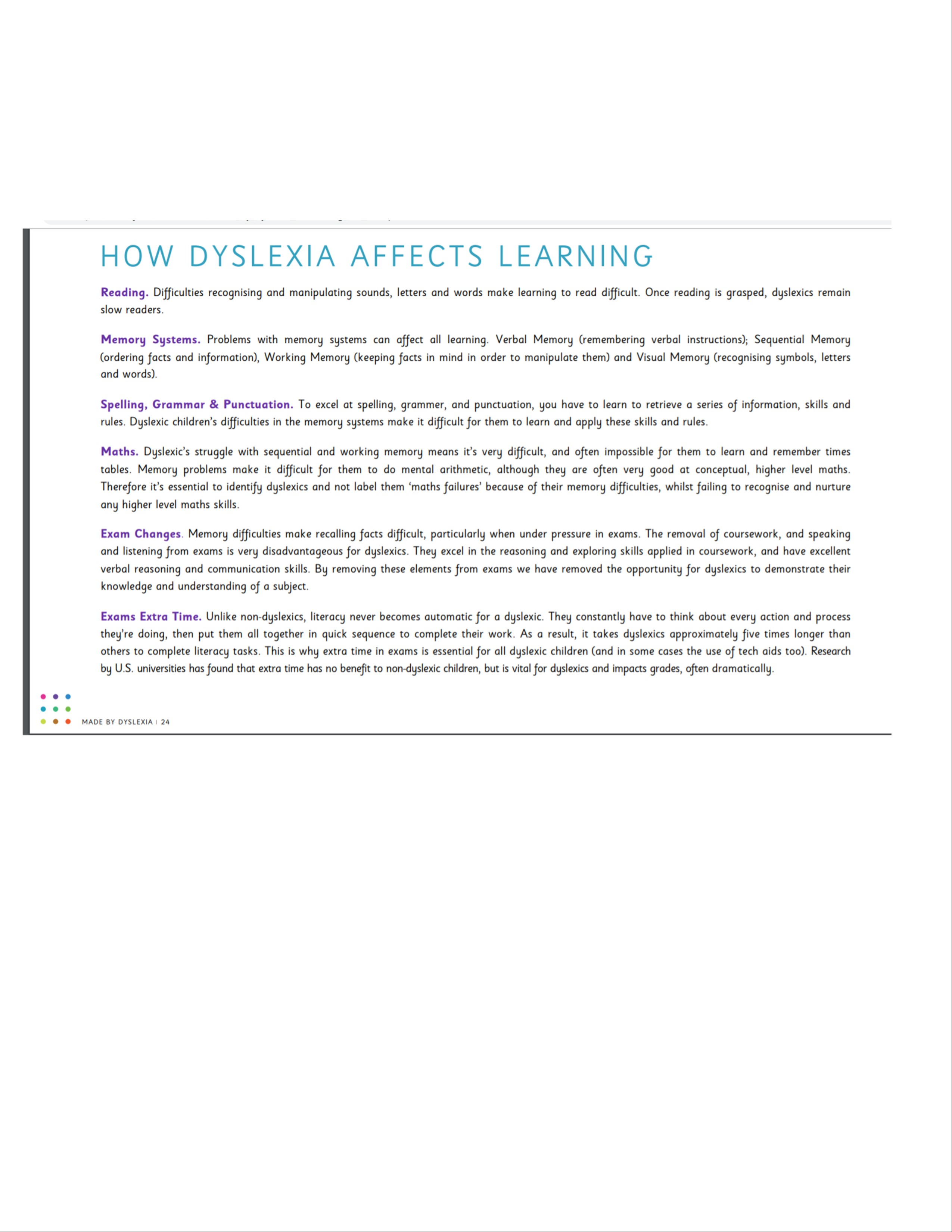 Dyslexia and Learning in NJ